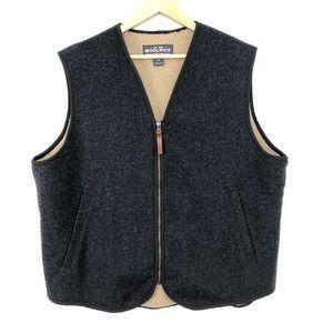 WoolRich gray wool fleece lined vest